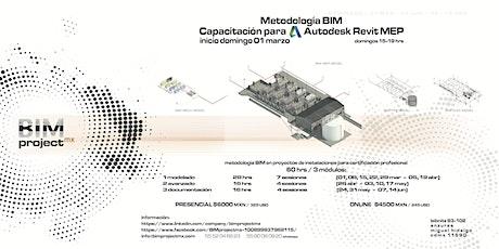 BIMprojectmx Capacitación Autodesk Revit MEP boletos