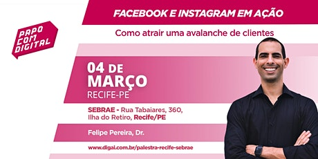 Palestra Facebook e Instagram em Ação - SEBRAE ingressos
