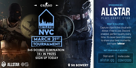 CS:GO Battle for NYC $1000 Tournament tickets