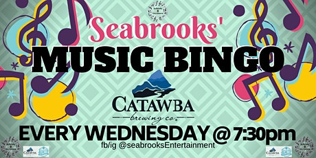 SEABROOKS' MUSIC BINGO!GREAT MUSIC,DOPE PRIZES,CATAWBA BREWING,INCREDIBLE VIEW tickets