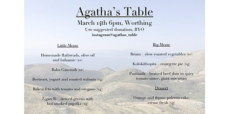 Agatha's Table: A Corfiot Supper Club in Worthing tickets