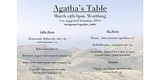 Agatha's Table: A Corfiot Supper Club in Worthing