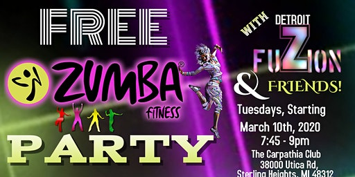 FREE Zumba Fitness® Party With DETROIT FUZION