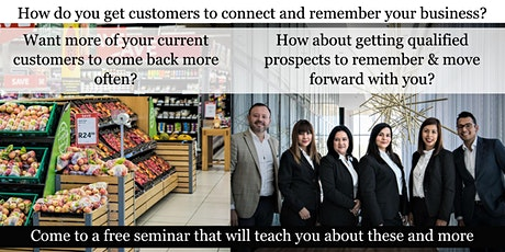 Digital Marketing - Connecting & getting customers to come back more often tickets