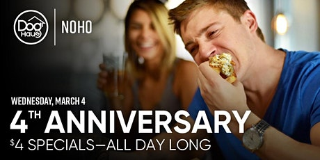 Dog Haus NoHo Celebrates 4 Years with $4 Haus Dogs & Draft Beers tickets