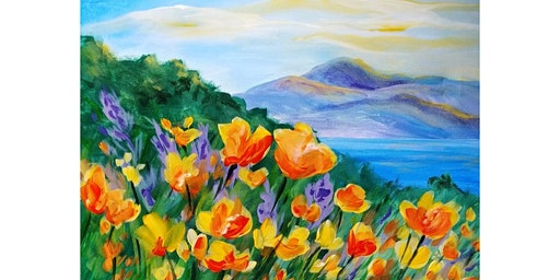 "4/19 - Corks and Canvas Event @ Eaglemount Wine & Cider, PORT TOWNSEND ""California Poppiesl"""