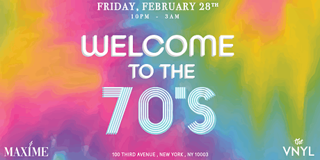 Maxime - Welcome To The 70's Party tickets