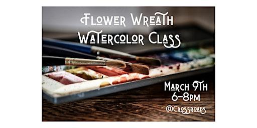 Flower Wreath Watercolor Class