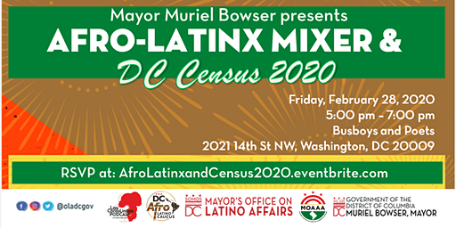 Afro-Latinx Mixer and DC Census 2020