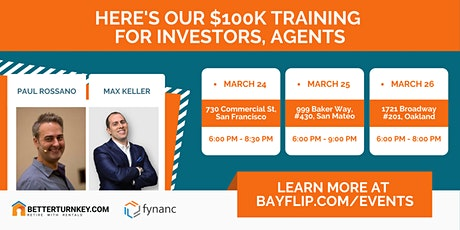 Here's Our $100K Training for Investors, Agents tickets