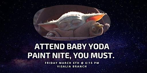 Baby Yoda Paint Nite
