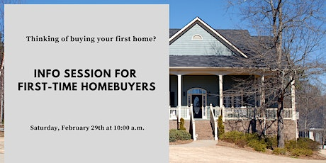 First-Time Homebuyer Information Session tickets