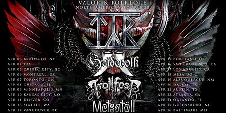 """Valor & Folklore"" North American Tour 2020 with Tyr, Heidevolk, and more! tickets"