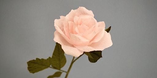 Crepe Paper Rose Workshop