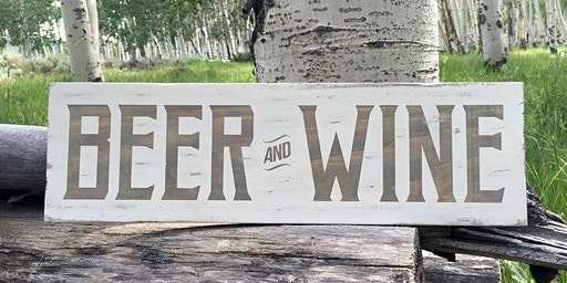 Beer and Wine Mini Wood Sign Creations at Knack DIY Craft Studio