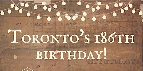 Toronto's 186th Birthday tickets