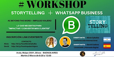 #WORKSHOP: WHATSAPP BUSINESS + STORYTELLING entradas