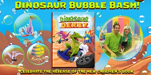 Dinosaur Bubble Bash! Launch Party for Dinosaur Derby - Tustin, CA.