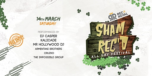 ShamRec'd | St Patrick's Day All Day Festival | Free Entry
