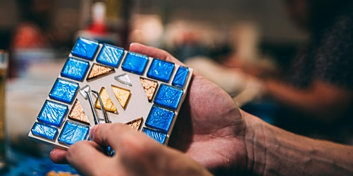Glass Tile Mosaic Coaster or Photo Frame Workshop