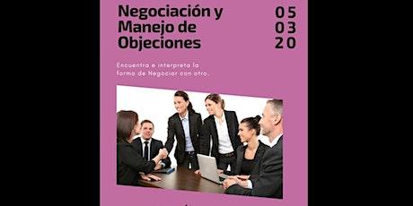 """Taller  """"Negociación y Manejo de Objeciones"""" boletos"""