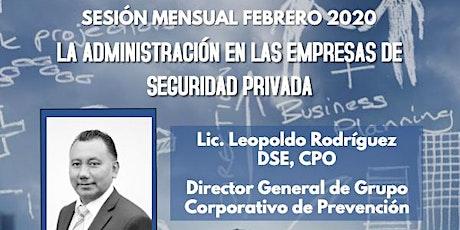 Sesión Mensual AMEXSI febrero 2020 entradas