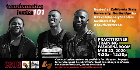 Transformative Justice 101: Practitioner Training tickets