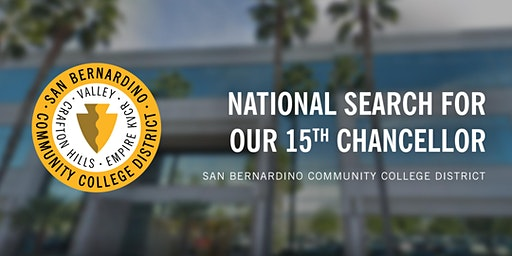 1st Public Forum: National Search for SBCCD's 15th Chancellor