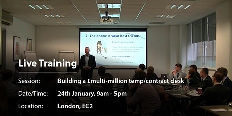 Building a £multi-million temp/contract desk tickets