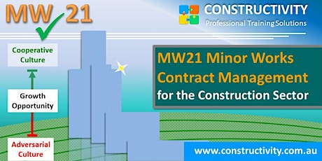 MW21 MINOR WORKS CONTRACT MANAGEMENT for the Construction Sector - 20 April 2020 tickets