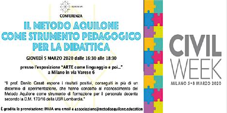 Civil Week - Il metodo Aquilone come strumento pedagogico per la didattica