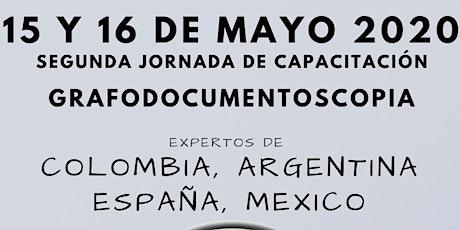 Jornada de Actualización Internacional Grafodocumentoscopia 2020 boletos