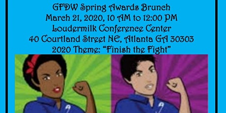 "GFDW Annual Spring Awards Brunch,"" Finish The Fight"" tickets"
