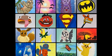 """Kids Open Paint (7yrs+) """"Pick Your Own Painting"""" entradas"""
