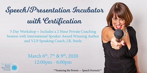 Speech/Presentation Incubator with Certification