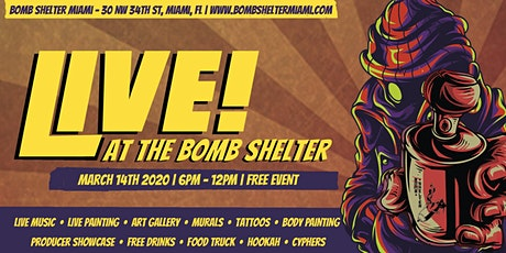 LIVE! AT THE BOMB SHELTER: Miami Music Week & Wynwood Art Walk Experience tickets