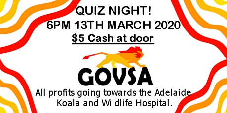 GOVSA Quiz Night Fundraiser 2020 tickets