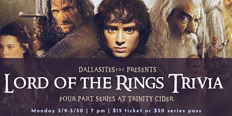 Lord of the Rings Trivia tickets
