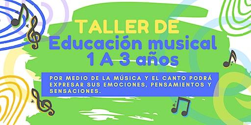 TALLER DE EDUCACIÓN MUSICAL BABIES DE 1 A 3 AÑOS