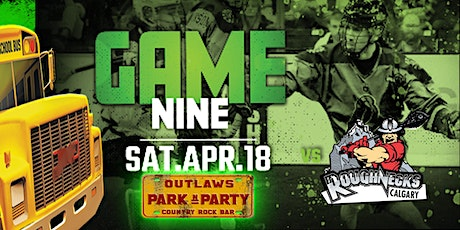Outlaws Park and Party Rush Vs Calgary Roughnecks tickets