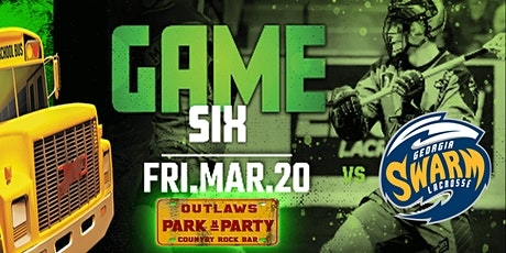 Outlaws Park and Party Rush Vs Georgia Swarm tickets