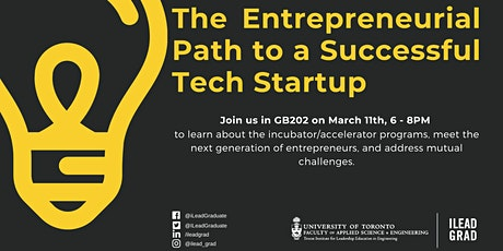 The Entrepreneurial Path to a Successful Tech Startup tickets