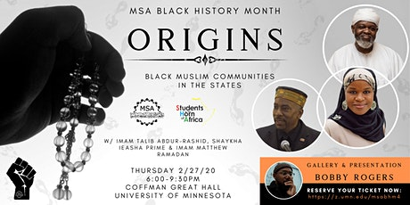 Origins: MSA 4th Annual Black History Month Banquet tickets