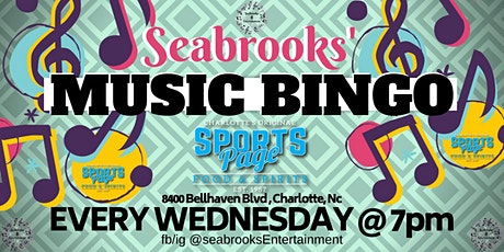 SEABROOKS' MUSIC BINGO!AWESOME MUSIC GREAT PRIZES,SPORTS PAGE CLT! tickets
