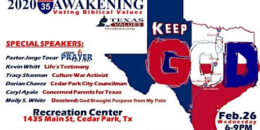 IH35 Awakening Keep God in Texas