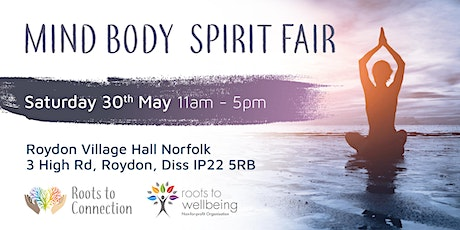 Mind Body Spirit Fair 30th May 2020 £2.50 Entrance Fee to pay tickets
