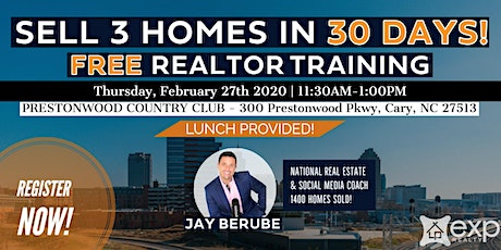 Sell 3 Homes in 30 Days!   Introduction to the Future of Real Estate! tickets