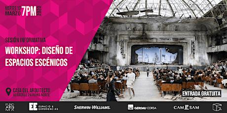 Curso + Wokshop DISEÑO DE ESPACIOS ESCÉNICOS | Charla informativa | GRATIS entradas