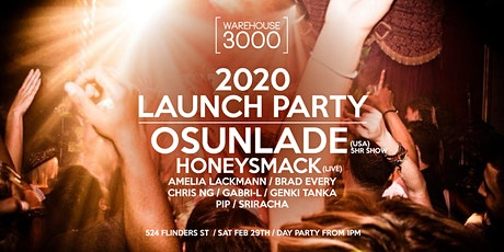 Osunlade (5 hr set) - Warehouse3000 2020 Launch Party tickets