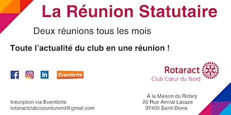La Réunion Statutaire billets